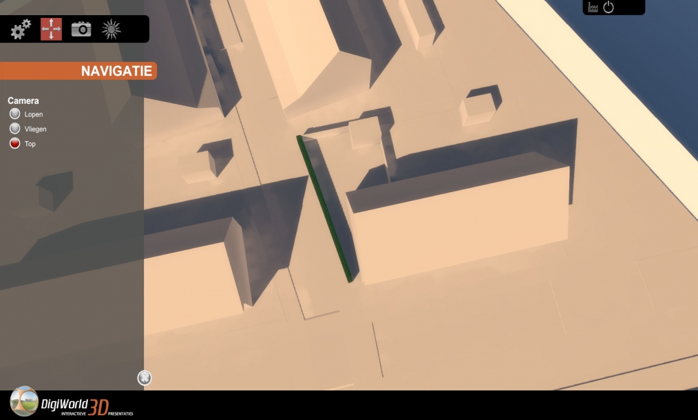 Interactief navigeren door het 3D model