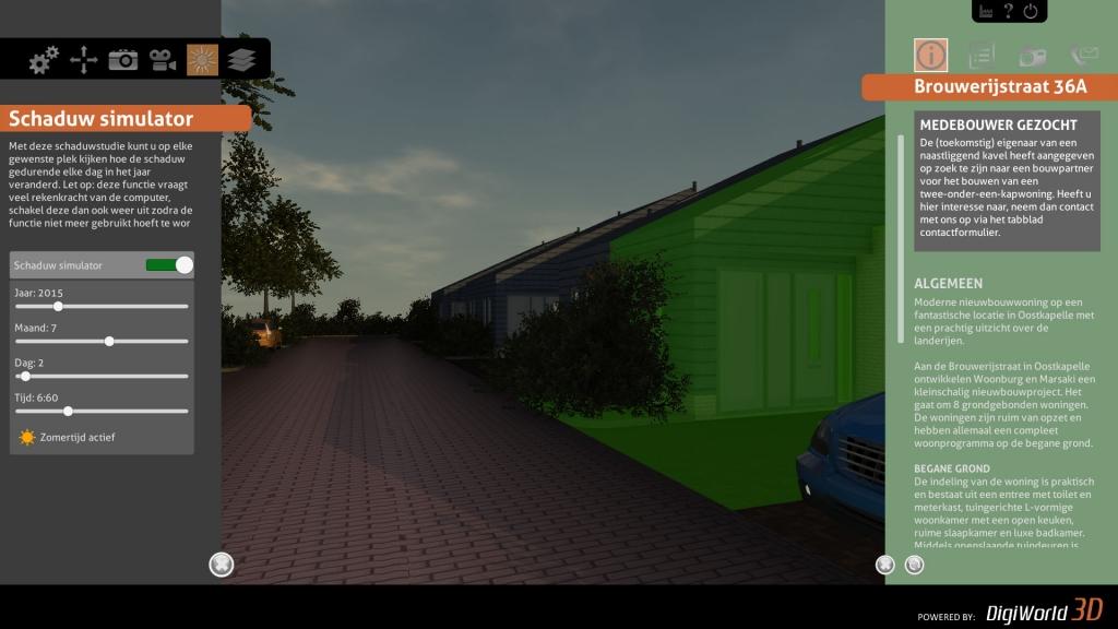 Relevantie informatie van woningen ophalen door er op te klikken