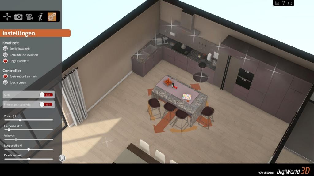 Uitgebreide mogelijkheden voor veranderen van interactieve 3D presentatie