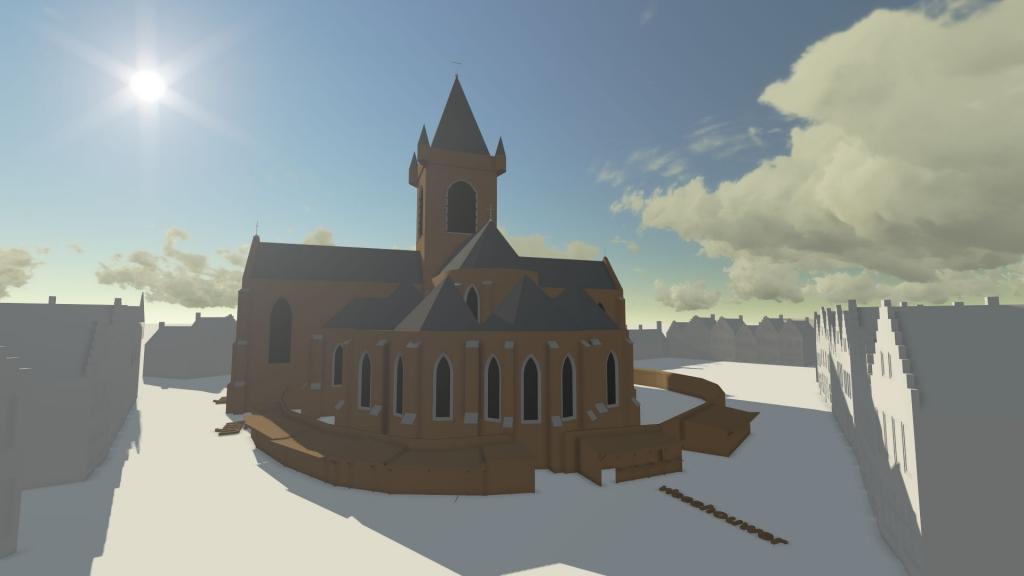 De Westmonsterkerk op de markt in Middelburg